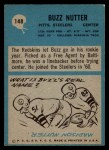 1964 Philadelphia #148  Buzz Nutter  Back Thumbnail