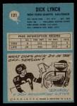 1964 Philadelphia #121  Dick Lynch   Back Thumbnail