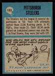 1964 Philadelphia #153   Steelers Team Back Thumbnail