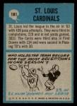 1964 Philadelphia #181   Cardinals Team Back Thumbnail