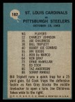 1964 Philadelphia #182   -  Wally Lemm  Cardinals Play of the Year Back Thumbnail
