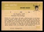 1961 Fleer #192  Jim Smith  Back Thumbnail