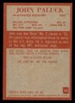 1965 Philadelphia #193  John Paluck   Back Thumbnail