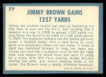 1961 Topps #77   -  Jim Brown 1960 Football Highlights Back Thumbnail