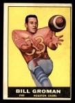 1961 Topps #142  Bill Groman  Front Thumbnail