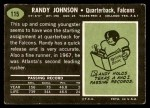 1969 Topps #115  Randy Johnson  Back Thumbnail