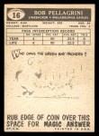 1959 Topps #16  Bob Pellegrini  Back Thumbnail