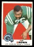 1969 Topps #245  Bob Brown  Front Thumbnail