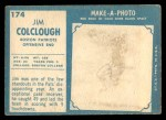 1961 Topps #174  Jim Colclough  Back Thumbnail