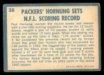 1961 Topps #38   -  Paul Hornung 1960 Football Highlights Back Thumbnail
