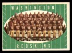 1961 Topps #131   Redskins Team Front Thumbnail