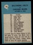 1964 Philadelphia #14   -  Don Shula Baltimore Colts Back Thumbnail