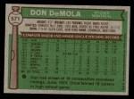 1976 Topps #571  Don DeMola  Back Thumbnail