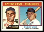 1976 Topps #66  Gus Bell / Buddy Bell   Front Thumbnail
