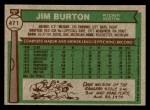 1976 Topps #471  Jim Burton  Back Thumbnail
