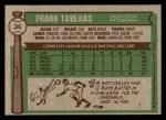 1976 Topps #36  Frank Taveras  Back Thumbnail