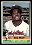 1976 Topps #210  Lee May  Front Thumbnail