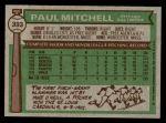 1976 Topps #393  Paul Mitchell  Back Thumbnail
