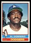 1976 Topps #605  Al Downing  Front Thumbnail