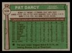 1976 Topps #538  Pat Darcy  Back Thumbnail