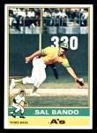 1976 Topps #90  Sal Bando  Front Thumbnail