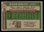 1976 Topps #136  Dave Goltz  Back Thumbnail