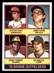 1976 Topps #598   -  Hector Cruz / Jamie Quirk / Jerry Turner / Joe Wallis Rookie Outfielders   Front Thumbnail
