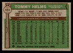 1976 Topps #583  Tommy Helms  Back Thumbnail