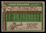 1976 Topps #633  John Stearns  Back Thumbnail