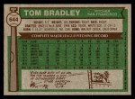 1976 Topps #644  Tom Bradley  Back Thumbnail