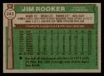 1976 Topps #243  Jim Rooker  Back Thumbnail
