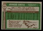 1976 Topps #560  Jorge Orta  Back Thumbnail