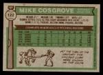 1976 Topps #122  Mike Cosgrove  Back Thumbnail