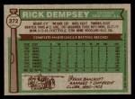 1976 Topps #272  Rick Dempsey  Back Thumbnail