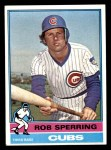 1976 Topps #323  Rob Sperring  Front Thumbnail