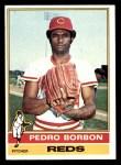 1976 Topps #77  Pedro Borbon  Front Thumbnail
