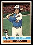 1976 Topps #208  Mike Lum  Front Thumbnail