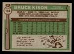1976 Topps #161  Bruce Kison  Back Thumbnail