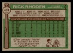 1976 Topps #439  Rick Rhoden  Back Thumbnail