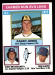 1976 Topps #201   -  Randy Jones / Andy Messersmith / Tom Seaver NL ERA Leaders   Front Thumbnail