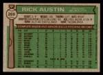 1976 Topps #269  Rick Austin  Back Thumbnail