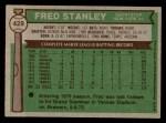 1976 Topps #429  Fred Stanley  Back Thumbnail