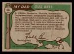 1976 Topps #66  Gus Bell / Buddy Bell   Back Thumbnail