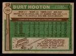 1976 Topps #280  Burt Hooton  Back Thumbnail