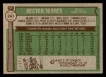 1976 Topps #241  Hector Torres  Back Thumbnail