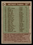 1976 Topps #361   -  Ralph Houk Tigers Team Checklist Back Thumbnail