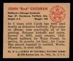 1950 Bowman #57  John Cochran  Back Thumbnail
