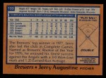 1978 Topps #133  Jerry Augustine  Back Thumbnail