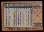 1978 Topps #210  Jose Cardenal  Back Thumbnail