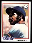 1978 Topps #520  Larry Hisle  Front Thumbnail